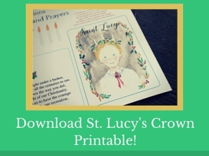 Download St. Lucy's Crown Printable!