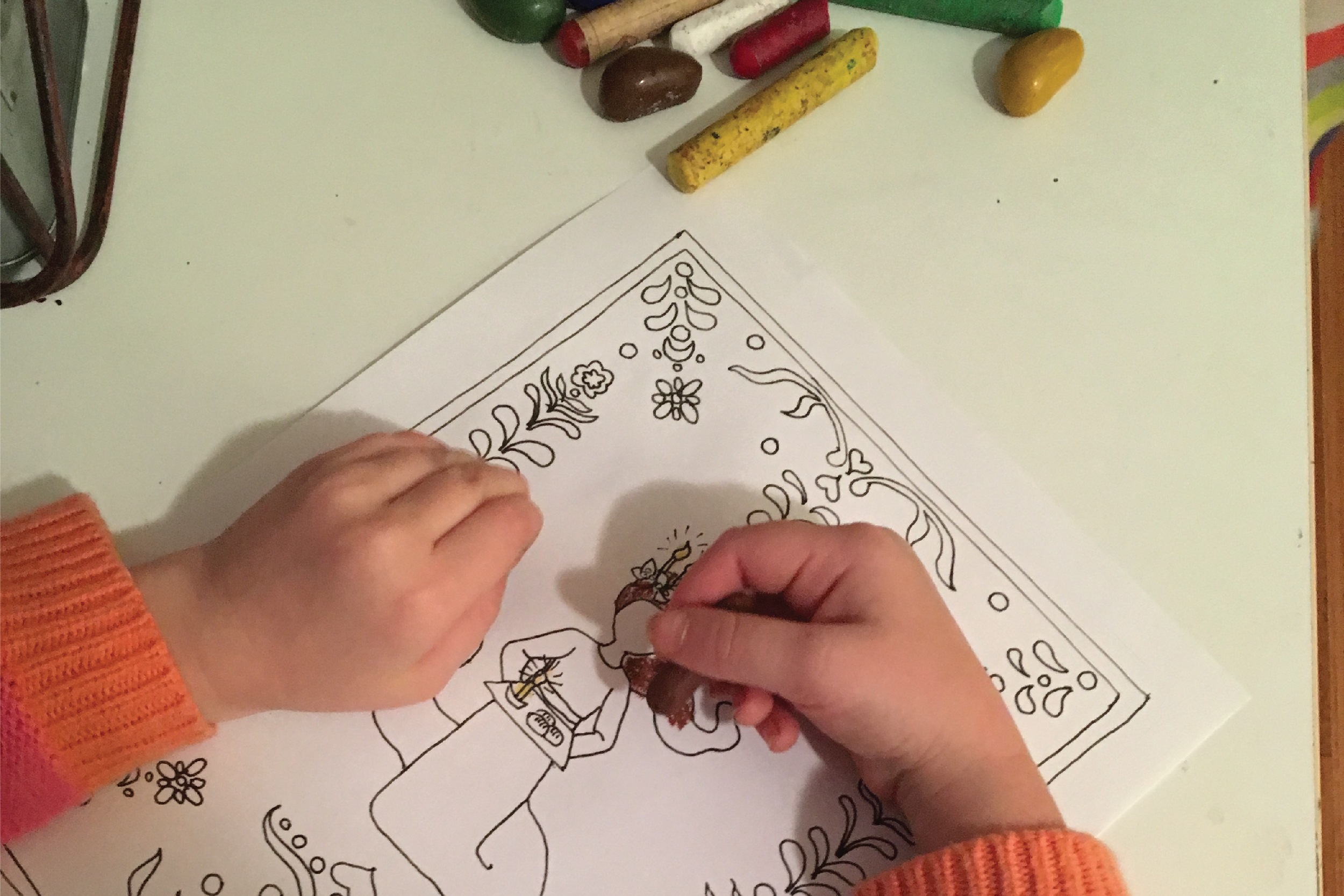 Coloring Pages For January Month : Advent saints coloring pages the homely hours
