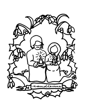 candlemas coloring pages | Candlemas: Celebrating at Home | The Homely Hours