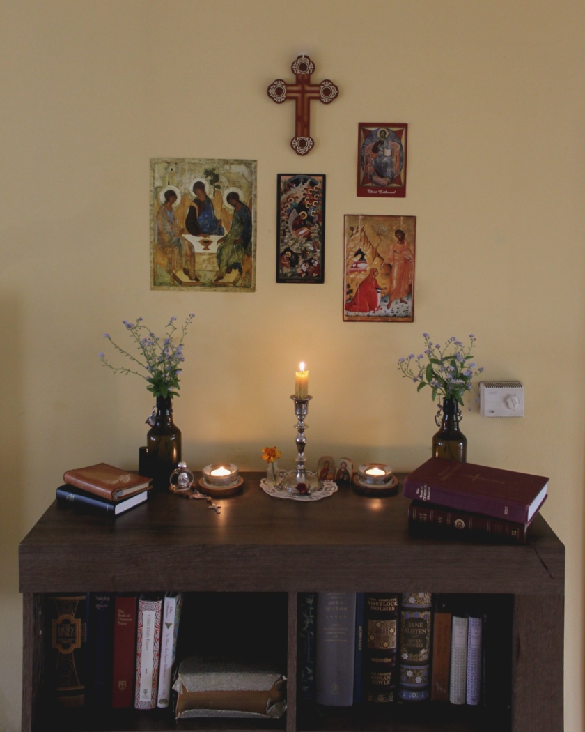 Altar Space in Our Living Room