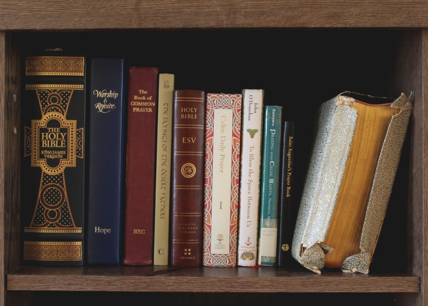 Shelf of Prayerbooks