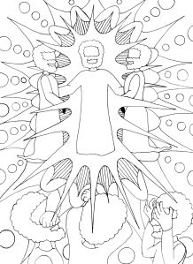 Coloring Page for the Transfiguration | The Homely Hours
